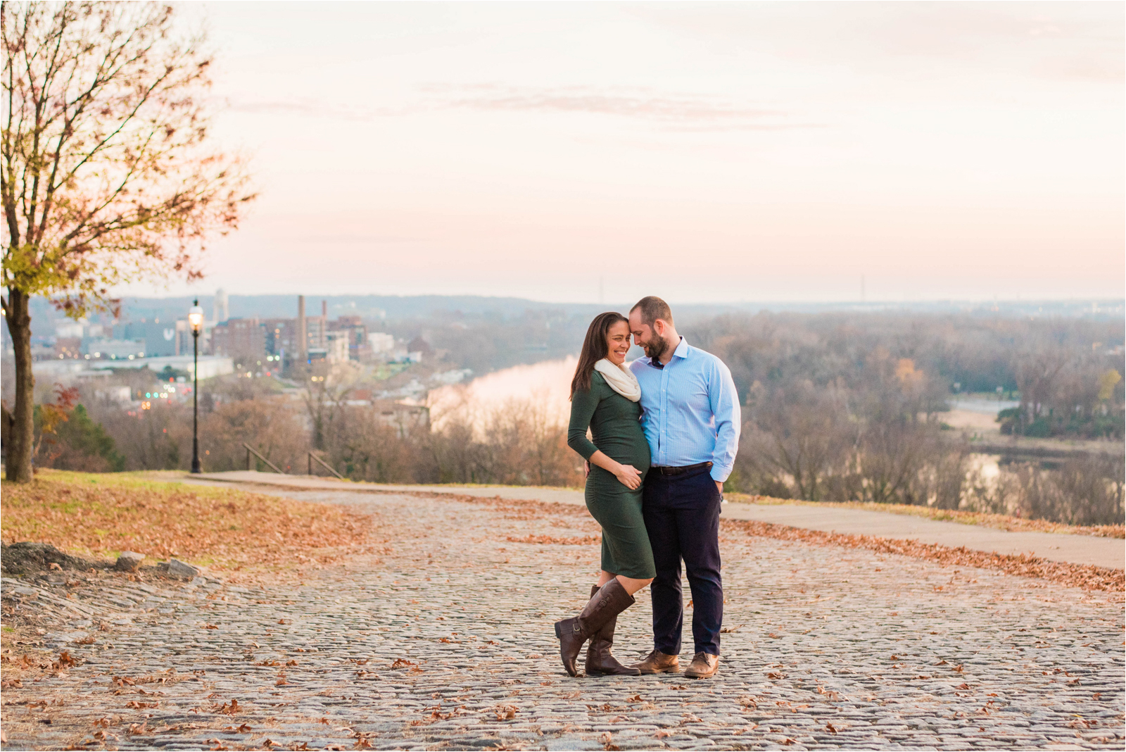 pregnancy-reveal-photography-session-husband-wife-green-dress-blue-shirt-navy-pants-sonogram-jessica-capozzola-libby-hill-park-richmond-va-rva