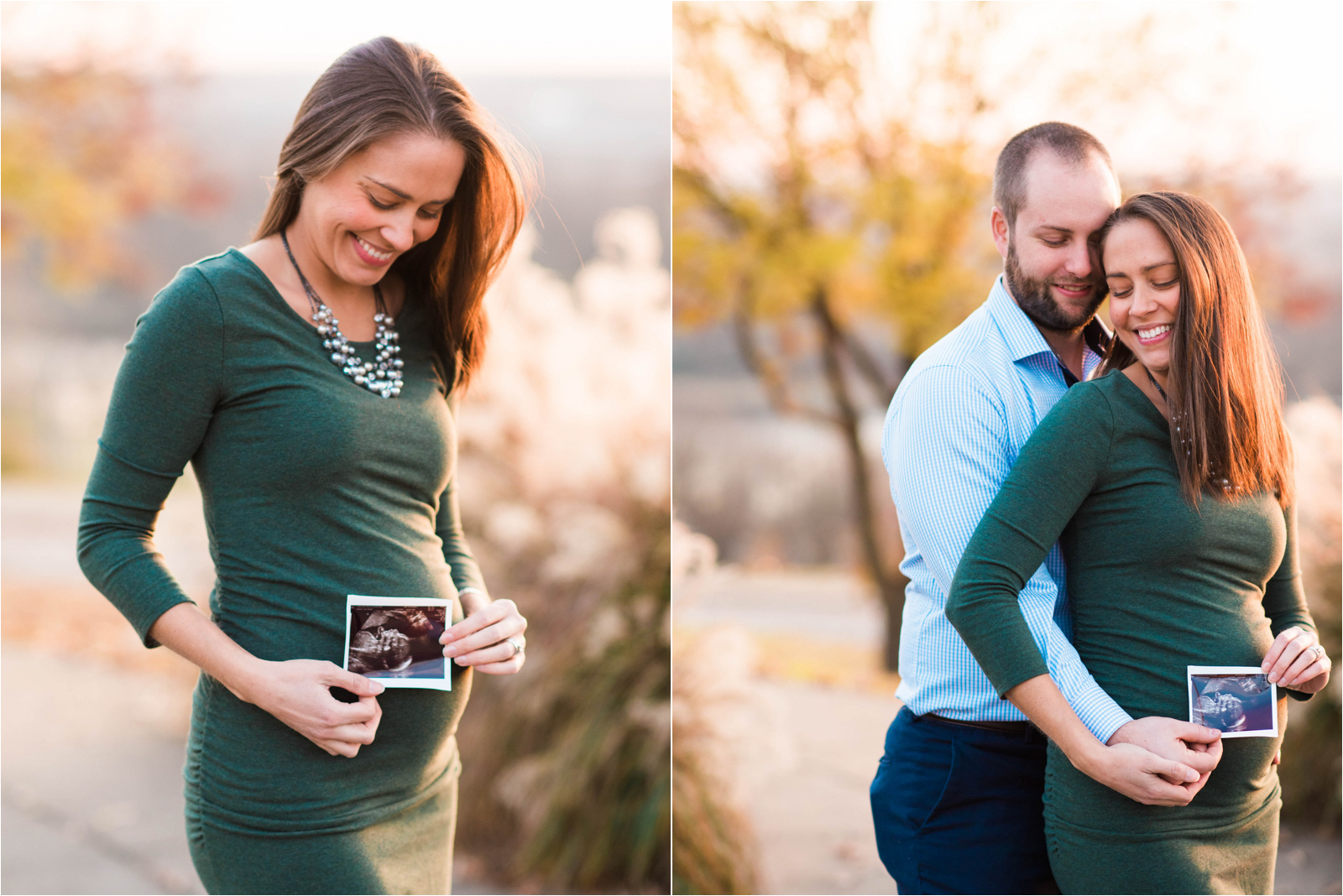 pregnancy-reveal-photography-session-husband-wife-green-dress-blue-shirt-navy-pants-sonogram-jessica-capozzola-libby-hill-park-richmond-va-rva